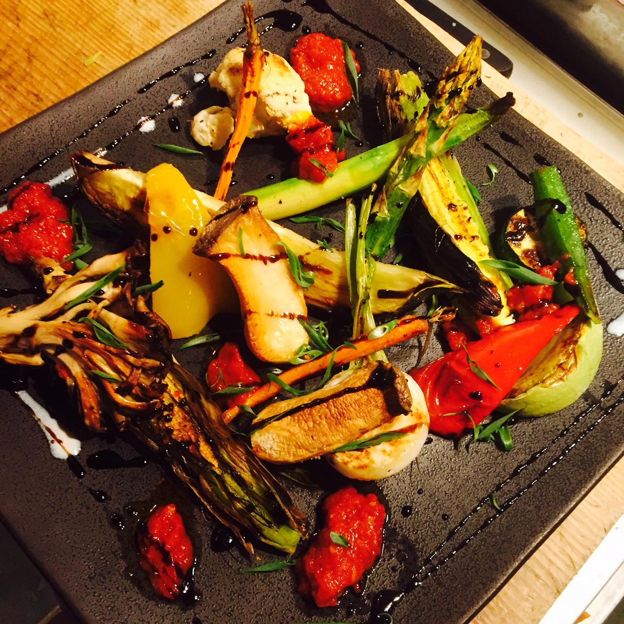 産直いろいろ焼き野菜の盛り合わせ バルサミコ風味