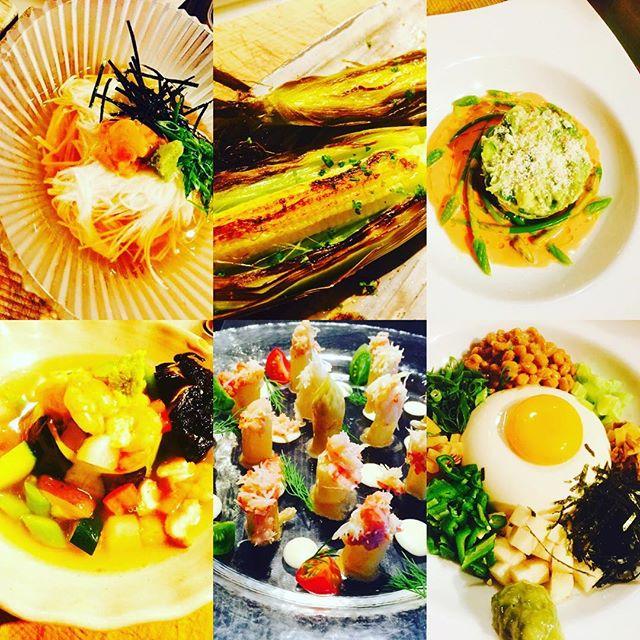 ブラッスリーピガール&六畳間️本日も野菜たっぷりで間もなくオープンでーす️^_^#フレンチ #横浜#刺身#野菜料理#ワイン#野毛#肉#和食
