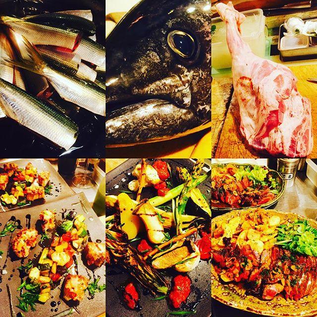 ブラッスリーピガール&六畳間️本日のラインナップ️フレッシュコーンスープ️小肌ちゃん️フランス産の仔羊モモ肉️生メジ鮪君️花ズッキーニ️その後野菜たっぷりで間もなくオープンでーす️^_^#野菜料理 #フレンチ#横浜#鮪 #野毛#パスタ#肉 #刺身#ブラッスリーピガール#和食##刺身