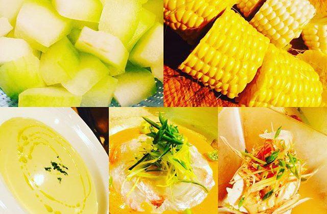 ブラッスリーピガール&六畳間️甘〜い、トウモロコシの冷製スープ仕込みました️今日も元気にオープンでーす️