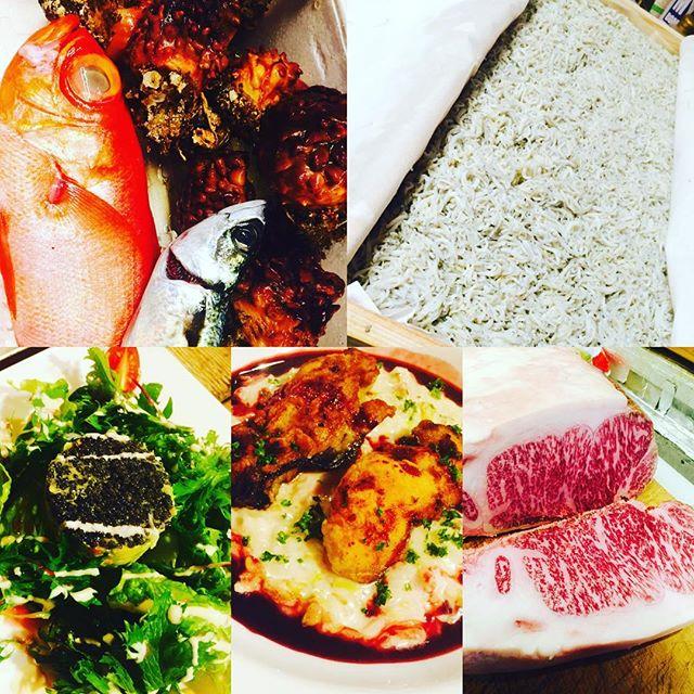 ブラッスリーピガール&六畳間️本日も盛り沢山で間もなくオープンでーす️^_^#野毛#和食# フレンチ#刺身#野菜料理#肉 #パスタ #横浜#ブラッスリーピガール #ワイン#日本酒#キャビア#イタリアン