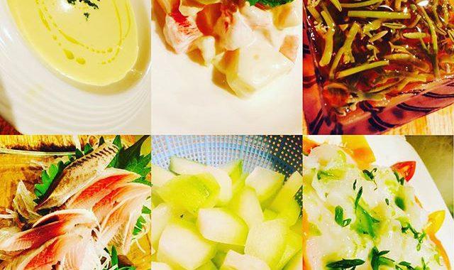 ブラッスリーピガール&六畳間️今日も旬の食材たっぷりで、間もなくオープンでーす️^_^#横浜#野毛#パスタ#ワイン #フレンチ#刺身#野菜料理#イタリアン#和食#宴会#女子会