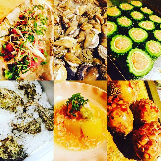 ブラッスリーピガール&六畳間️本日のラインナップ️ゴーヤの肉詰め️カツオ君はたっぷり薬味で️冬瓜の蟹餡️日本海から岩ガキ️三陸から天然ホヤ️愛知県からナガラミ貝️アキレスケンのデミグラス煮込みなどなど盛り沢山で間もなくオープンでーす️