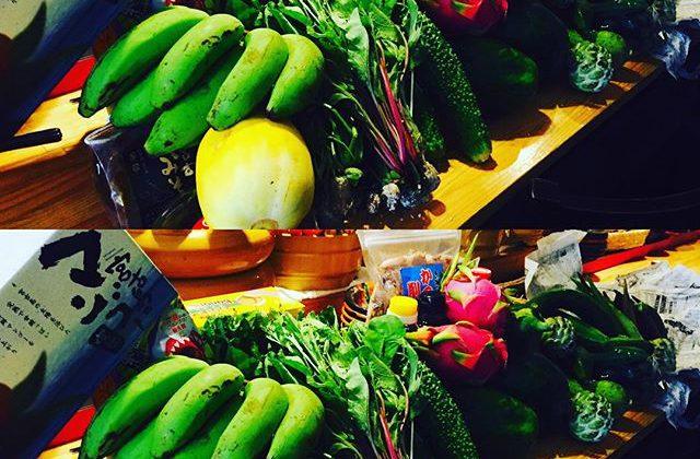 ブラッスリーピガール&六畳間️さっそく宮古島から野菜が届きました️明日も宮古牛&アグー豚など続々届く予定でーす️^_^間もなくオープンでーす️^_^