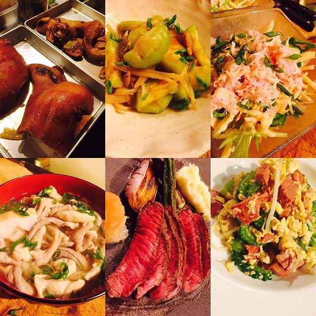 ブラッスリーピガール&六畳間️アグー豚ちゃんの顔肉、トロトロに煮込みました️コラーゲンの塊〜〜煮込んだスープが美味しいので、アレもやっちゃおうかな〜〜^_^#ワイン #フレンチ #和食 ##宮古島#沖縄料理#アグー豚#豚骨#横浜#野毛