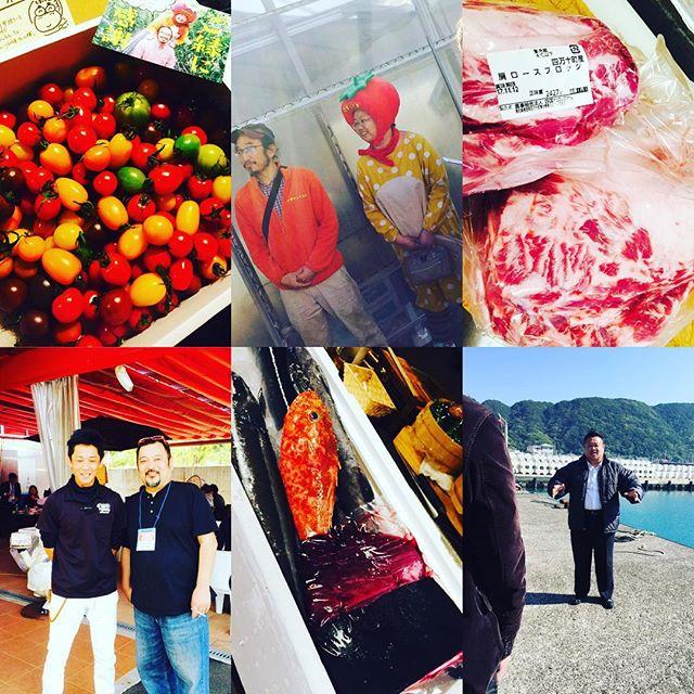 ブラッスリーピガール&六畳間️高知県からたくさん食材が届きました️色とりどりトマト️四万十ポーク️足摺岬の魚たち️美味しいクジラ️コバンザメ️沖さよりなどなど️珍しい魚も入荷️で間もなくオープンでーす️^_^