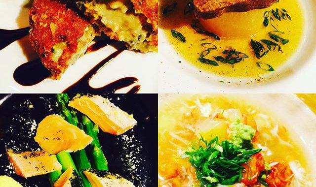 ブラッスリーピガール&六畳間️浅利のクリームコロッケ️牛タン大根️サーモンアスパラ️冬瓜蟹餡などなど️間もなくオープンでーす️
