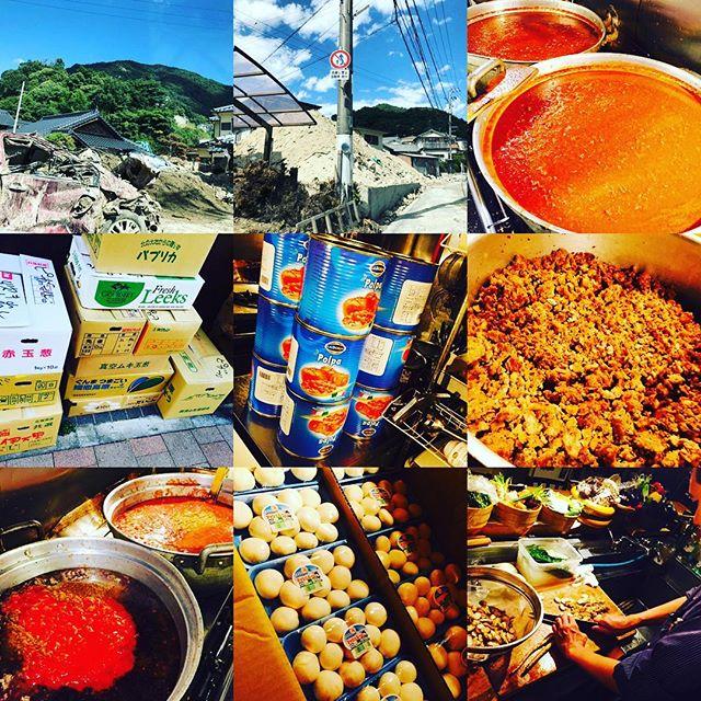 ブラッスリーピガール️いよいよ明後日の広島呉市の炊き出しに向けてのミントソース300食仕込み終了️広島からの画像を見たところまだまだ、酷い 状況のようです。今回の炊き出しに、ご協力頂いた、広島福山の復活会の皆様をはじめ食品業者の皆様、募金活動をして頂いた皆様、お水など物資を頂いた皆様、ありがとうございますm(._.)m️皆様のお気持ちを、災害地に届けて来ます️まずはご報告させて頂きます。