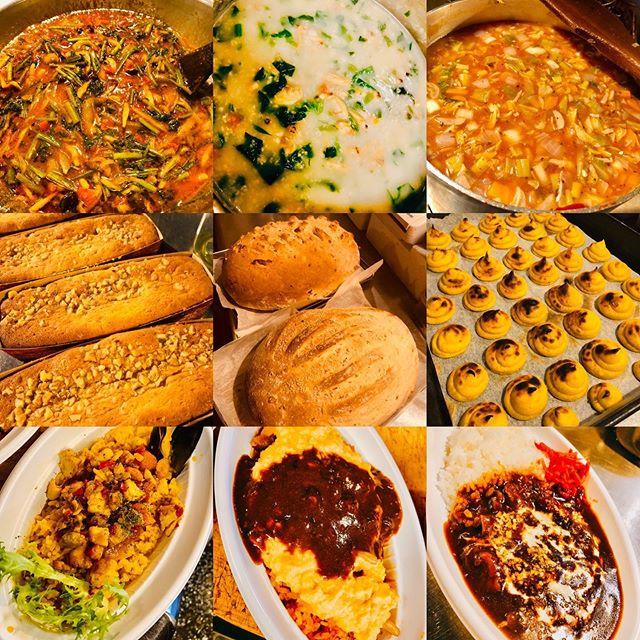 ブラッスリーピガール野毛マルシェ本日のラインナップ️自家製パンはクルミ&イチヂクとブルーベリーの2種🥖スイーツでガトーショコラ️パイナップルガトーシルクスイートポテト安定のオムライス🥚新作うな玉丼️冷凍パスタソースもホタルイカとセリのトマトソース️食べるスープ、ミネストローネ️などなど盛り沢山️野毛マルシェ本日も11時〜でーす。ブラッスリーピガール #横浜 #野毛 #野毛ランチ #ランチ #パエリア#カレー #唐揚げ #ラーメン #パスタ #パスタソース #おうちごはん #弁当 #お惣菜 #おかず #テイクアウト #デリバリー #コロナに負けるな #http://pigalle.yokohama
